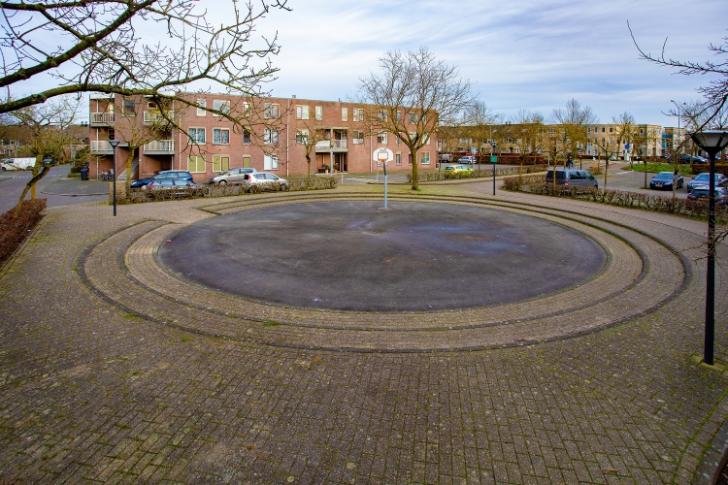 Het plein aan het droogdok in oude tijden